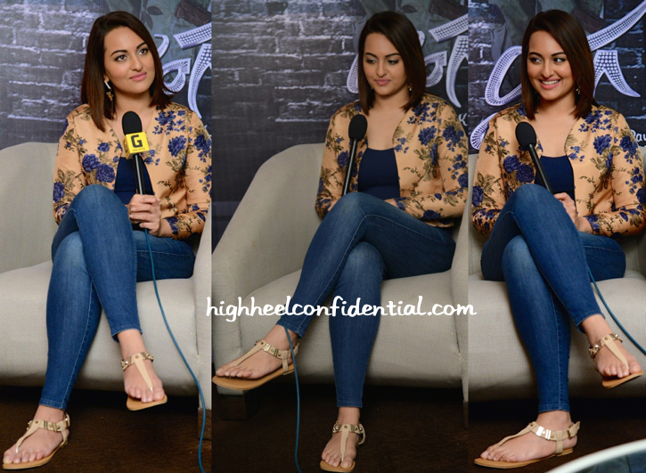 Sonakshi Sinha In Bhumika Sharma And Sapphire At 'Lingaa' Promotions-2