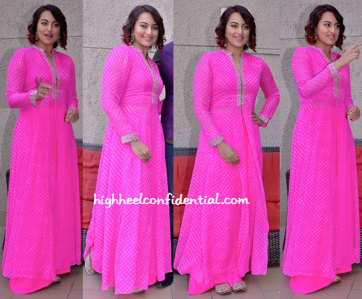 Sonakshi Sinha Wears Anita Dongre To Tevar Promotions-2
