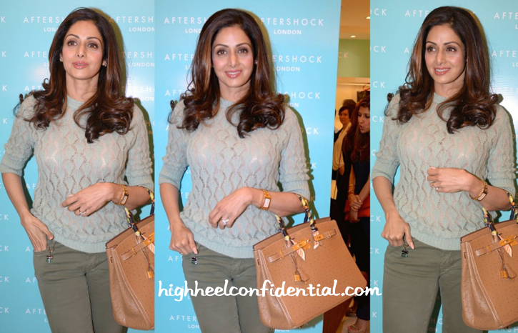 Sridevi In Missoni At After Shock Launch-2