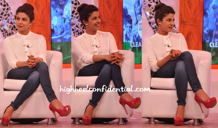 priyanka chopra in zara at ndtv clenathon-2