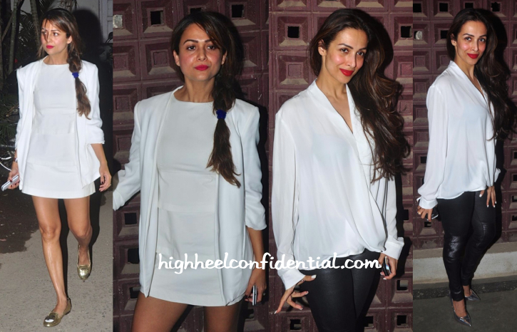 Amrita Arora And Malaika Arora Khan Photographed Taking In A Play-1