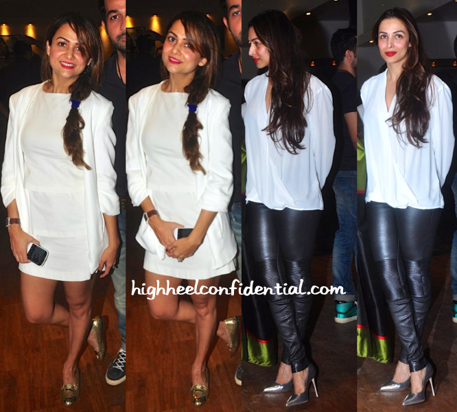 Amrita Arora And Malaika Arora Khan Photographed Taking In A Play