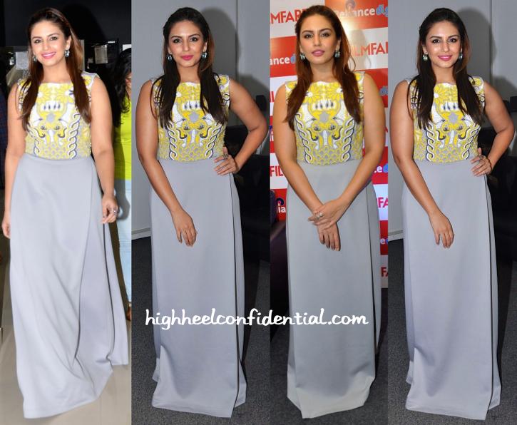 Huma Qureshi Wears Pankaj & Nidhi To Filmfare Calendar Launch-1