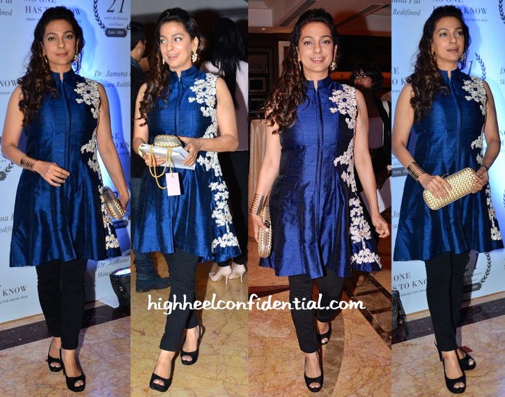 Juhi Chawla In Ridhi Mehra At Dr. Jamuna Pai's Book Launch