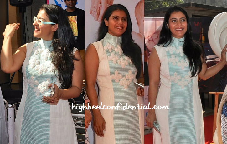 Kajol in Neha Agarwal at the unveiling of Rouble Nagi scuplture for Surya Child Care-1