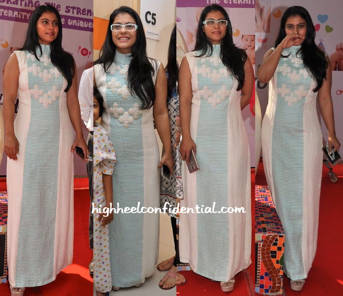 Kajol in Neha Agarwal at the unveiling of Rouble Nagi scuplture for Surya Child Care-2