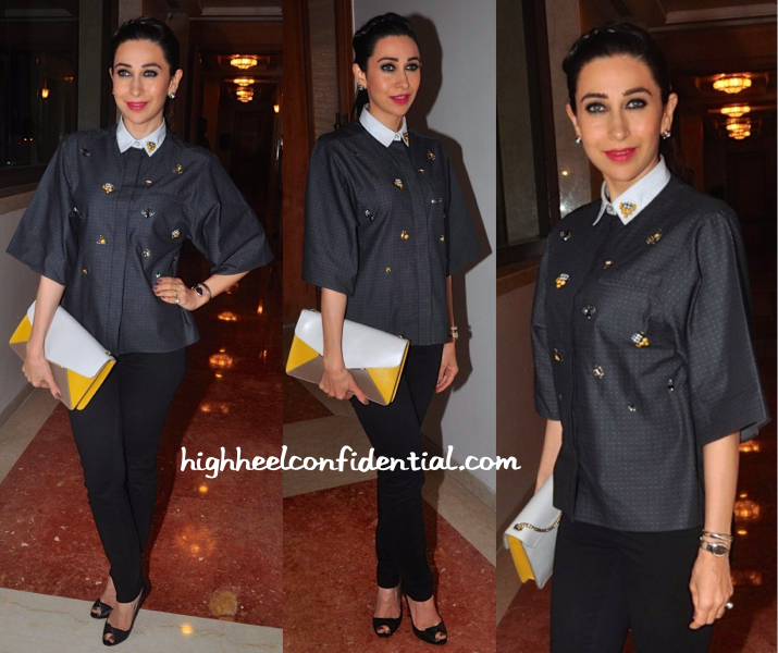 Karisma Kapoor In Sanchita At In And Out Supermarket Launch-1