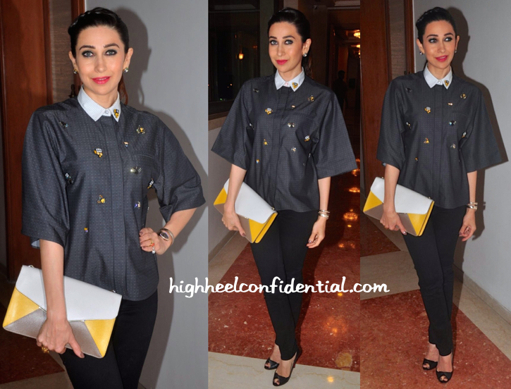 Karisma Kapoor In Sanchita At In And Out Supermarket Launch-2