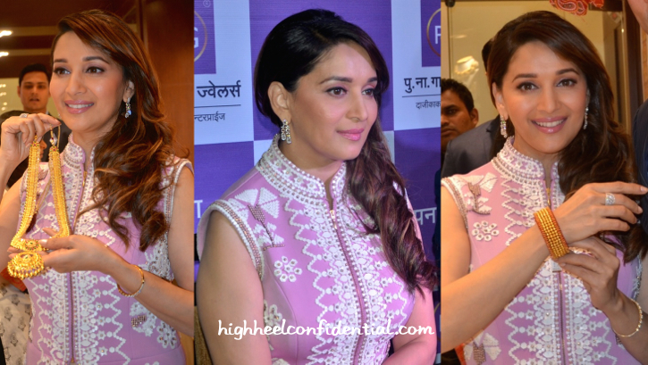 Madhuri Dixit Nene launches P. N. Gadgil Jewellers Showroom-pankaj and nidhi-2