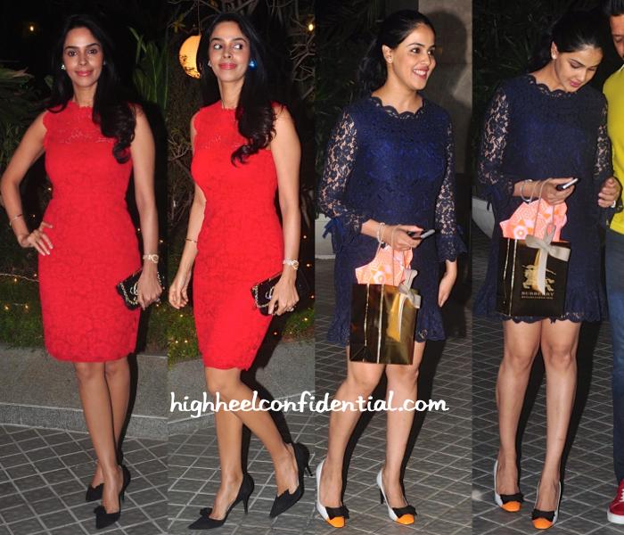 Mallika Sherawat And Genelia D'Souza At Farah Khan's 50th Birthday Bash-2