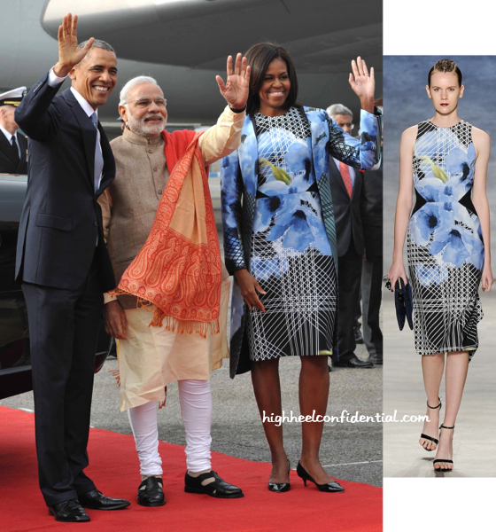 Michelle Obama Wears Bibhu Mohapatra As She Arrives In India-2