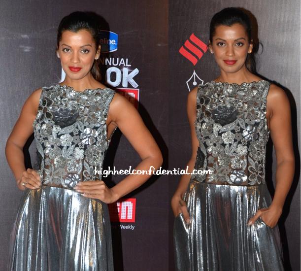 Mugdha Godse in Namrata Joshipura at Screen Awards 2015-1