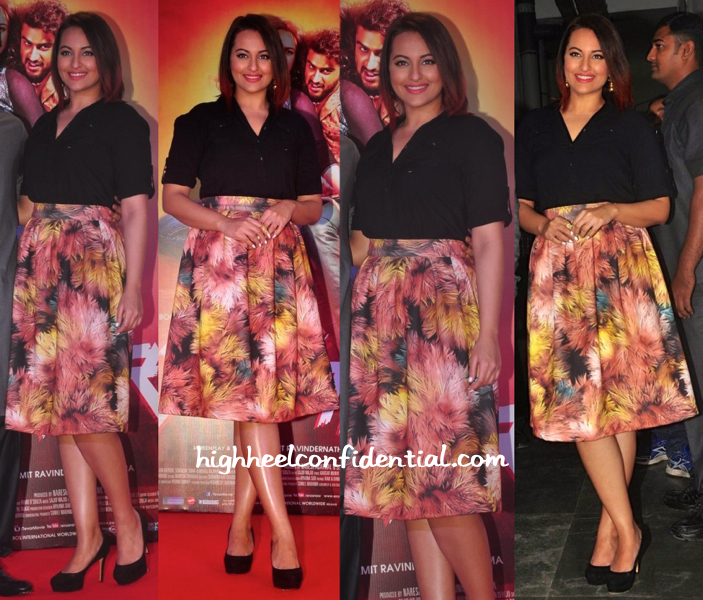 Sonakshi Sinha In Nitya Bajaj At Tevar Promotions