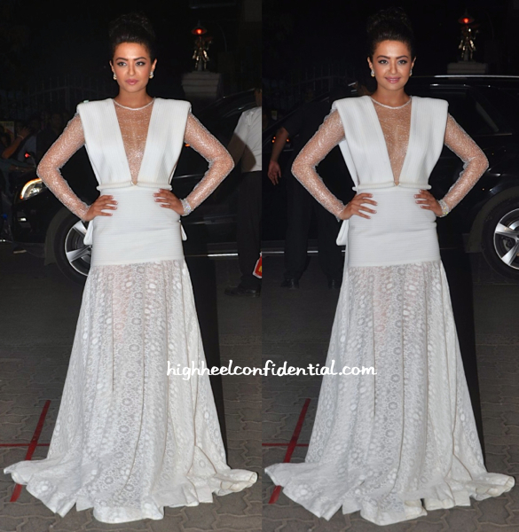 Surveen Chawla in Tanieya Khanuja and Anmol Jewellers at Filmfare Awards 2015-2