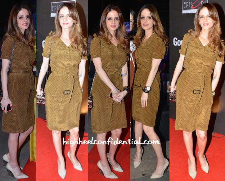 Sussanne Khan Roshan In Burberry At Good Homes Awards 2015
