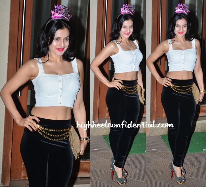 ameesha patel at nye 2014-2014 bash