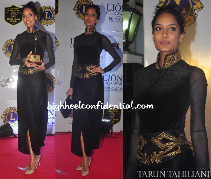 lisa-haydon-tarun-tahiliani-lion-awards-2014