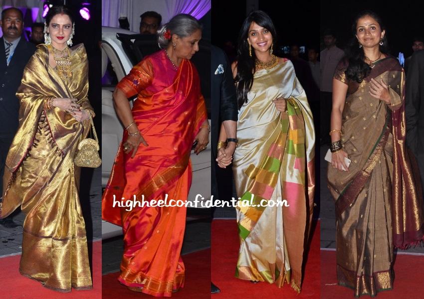 rekha-jaya-priyanka-anusha-bhagat-kussh-sinha-wedding