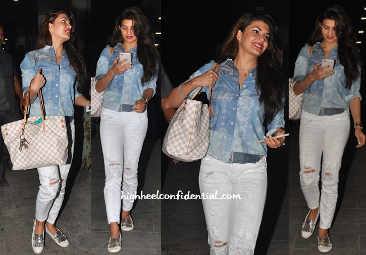 Jacqueline Fernandez In Ralph Lauren, Tod's And Louis Vuitton At Zoya Akhtar's Birthday Do