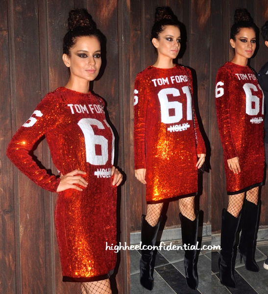 Kangana Ranaut In Tom Ford At A Success Bash For 'Queen'-1