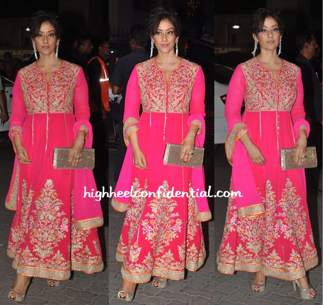 Manisha Koirala In Abu Sandeep At Filmfare Awards 2015