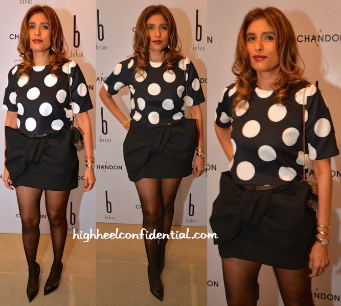 Roohi Jaikishan In Marc By Marc Jacobs And Madison At Behno Launch