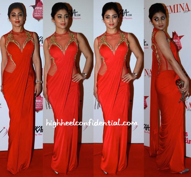 Shriya Saran In Gaurav Gupta At Femina Beauty Awards 2015-2