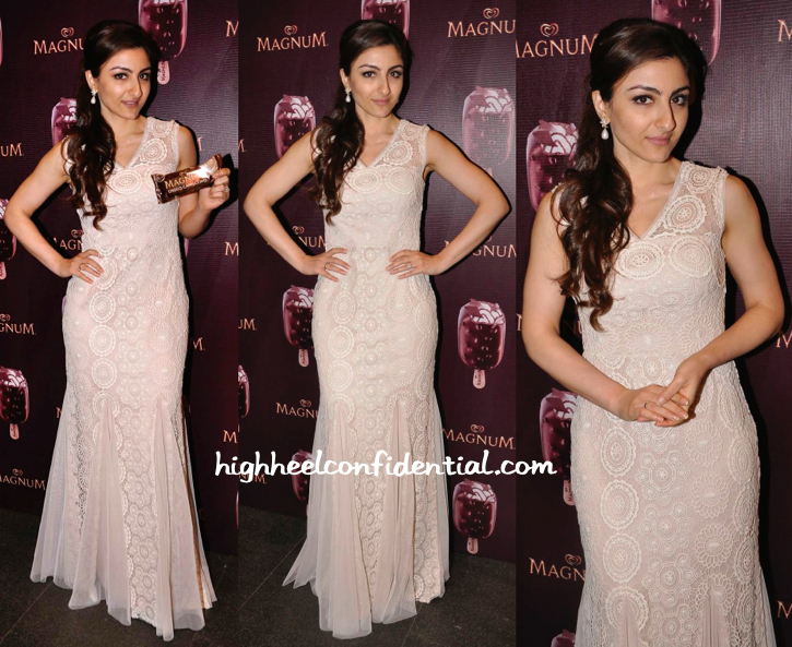 Soha Ali Khan In Amy Billmoria At Magnum Event