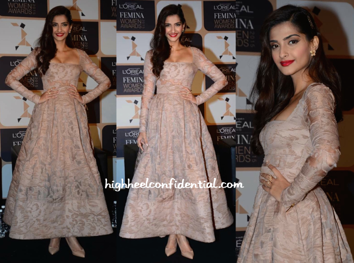 Sonam Kapoor In Elie Saab At Loreal Femina Women Awards Press Meet-1