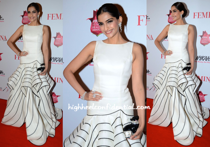 Sonam Kapoor In Isabel Sanchis At Femina Beauty Awards 2015-2