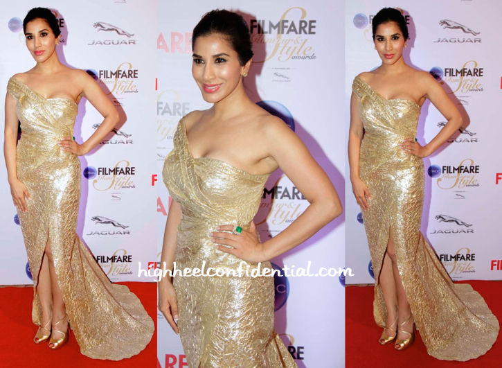 Sophie Choudry In Monisha Jaising And Farah Khan Ali Fine Jewelry At Filmfare Glamour And Style Awards 2015
