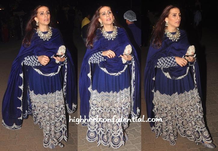 Sunita Kapoor In Anamika Khanna At Hinduja Bash-1