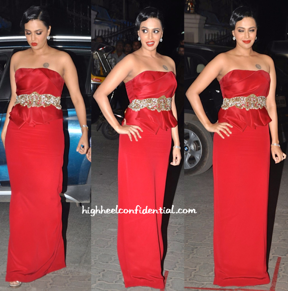 Swara Bhaskar In Notte By Marchesa At Filmfare Awards 2015-1