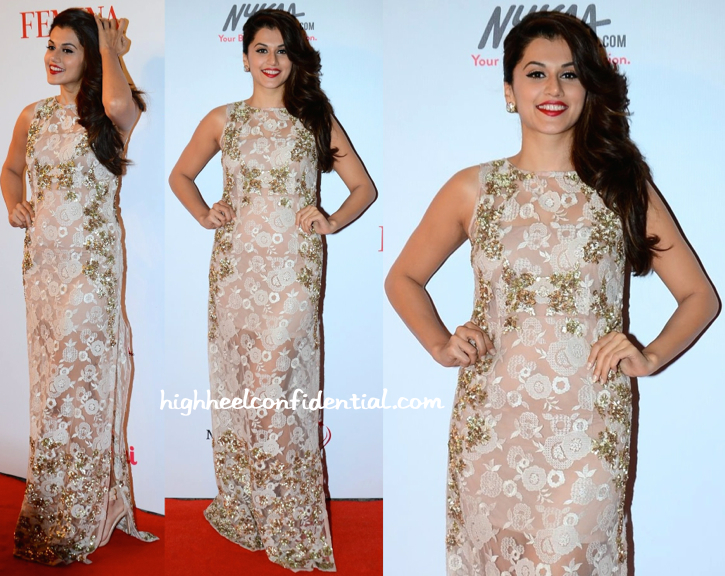 Taapsee Pannu In Kavita Bhartia At Femina Beauty Awards 2015