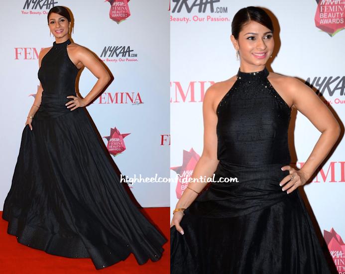 Tanisha In Schon By Sakhshee At Femina Beauty Awards 2015