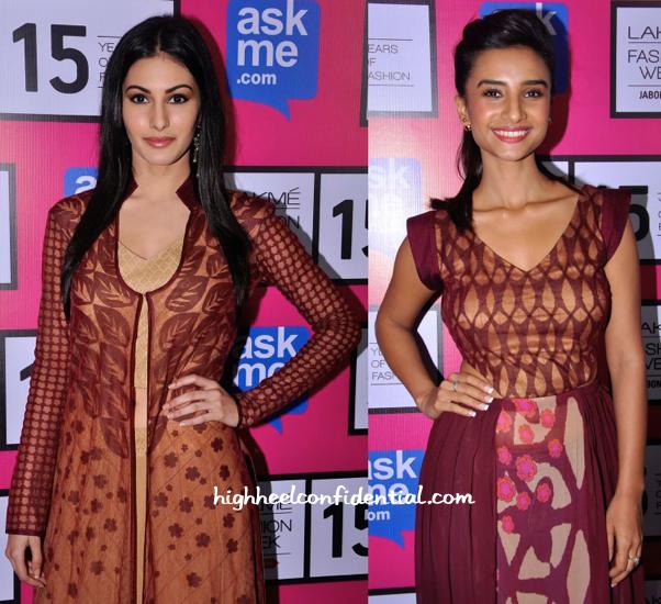 Amyra Dastur And Patralekhaa In Kunal Anil Tanna At Lakme Fashion Week 2015-2