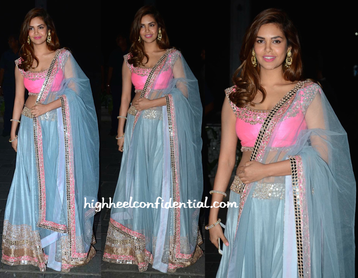 Esha Gupta At Tulsi Kumar-Hitesh Ralhan Wedding Reception