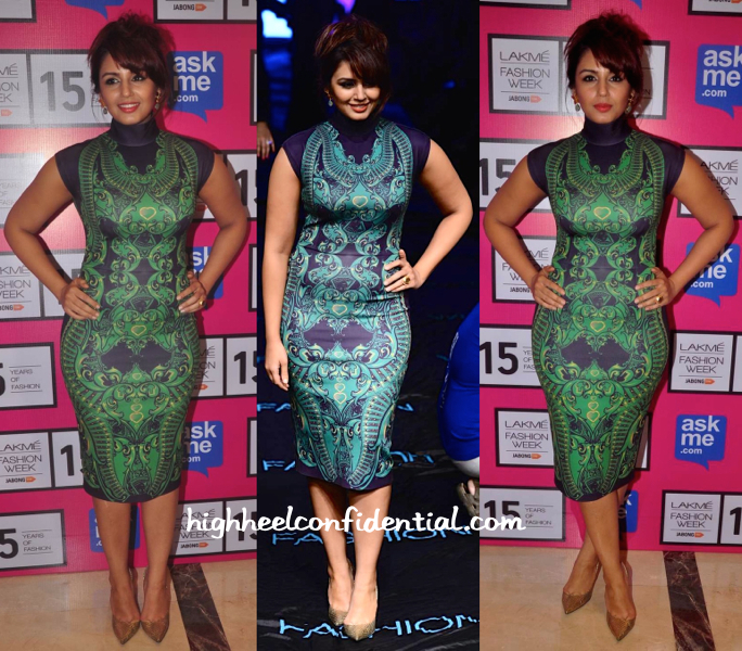 Huma Qureshi In Pankaj And Nidhi At Lakme Fashion Week 2015-1