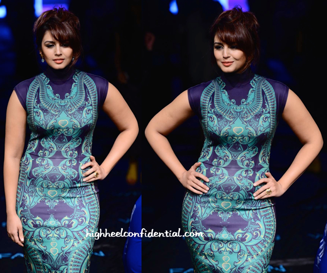 Huma Qureshi In Pankaj And Nidhi At Lakme Fashion Week 2015-2