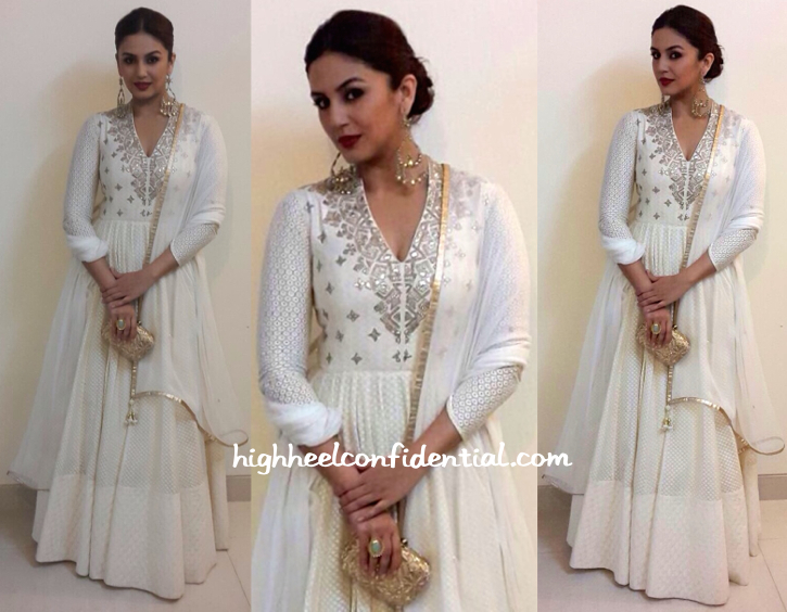 Huma Qureshi Wears Anita Dongre To Masaba Gupta And Madhu Mantena's Engagement