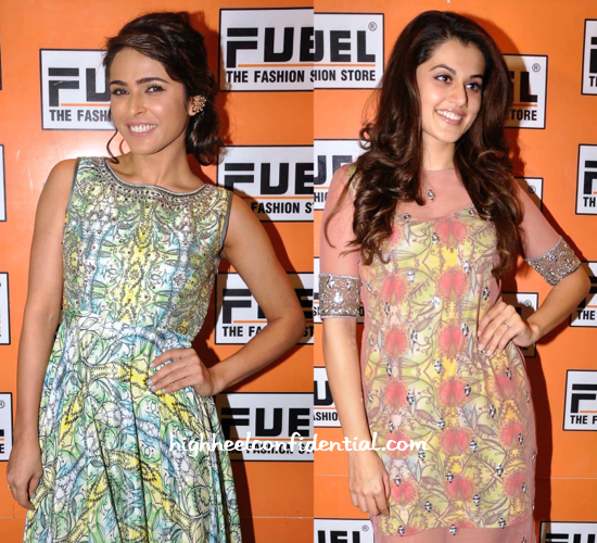 Madhurima Tuli And Taapsee Pannu At Kanika Kedia's Spring 15 Collection Launch-1