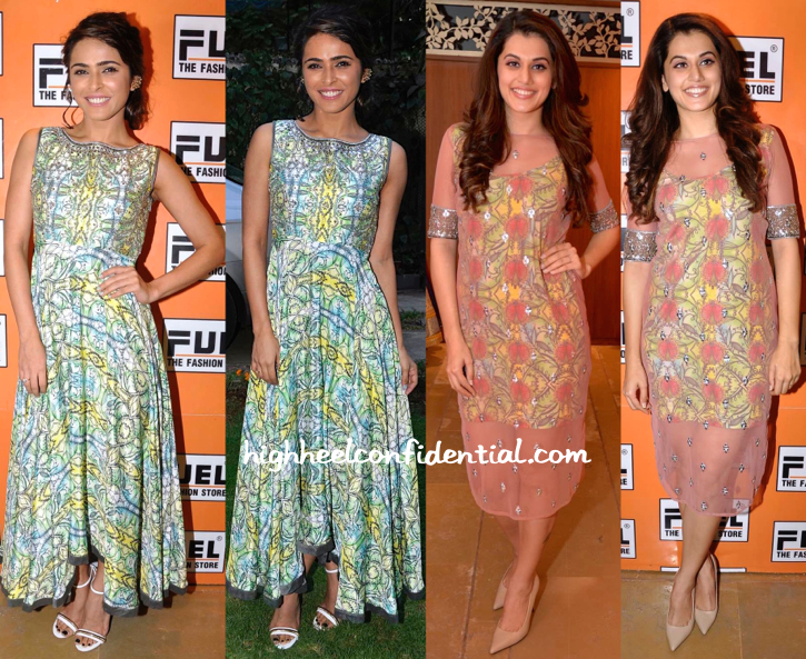 Madhurima Tuli And Taapsee Pannu At Kanika Kedia's Spring 15 Collection Launch-2