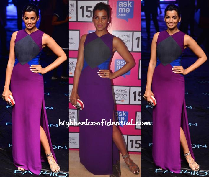 Mugdha Godse In Veda Raheja At Lakme Fashion Week
