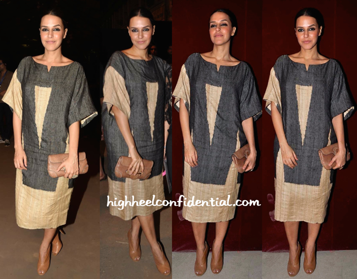 Neha Dhupia In Abraham And Thakore At Sabyasachi Resort 2015 Presentation