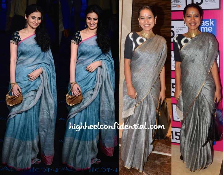 Rasika Dugal And Tillotama Shome Attend Anavila's Show At LFW Wearing Saris By The Designer-1