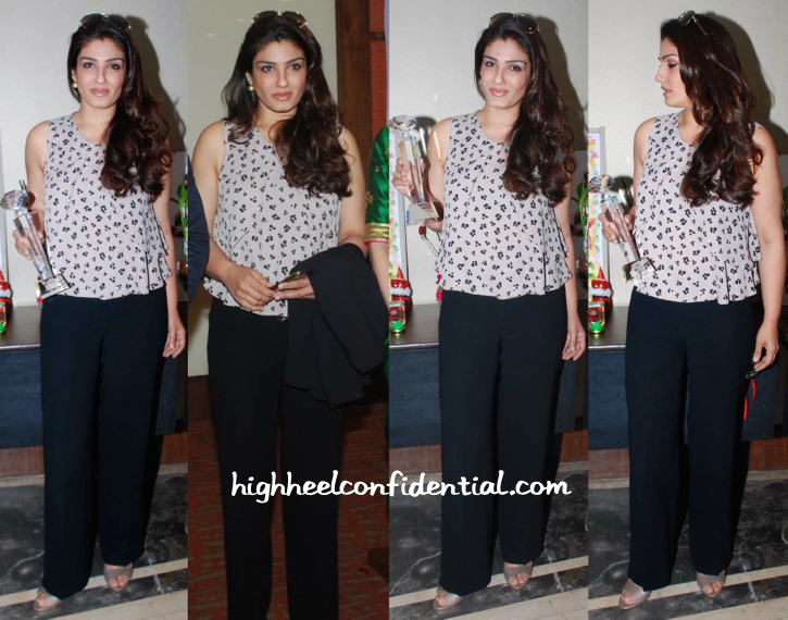 Raveena Tandon In Zara At Young Environmentalists Trust's Women Achievers Awards-1
