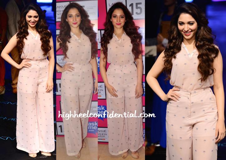 Tamannaah Bhatia In Nishka Lulla At Lakme Fashion Week