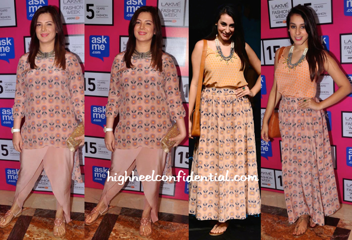Urvashi Sharma And Anindita Nayar In Payal Singhal At Lakme Fashion Week 2015