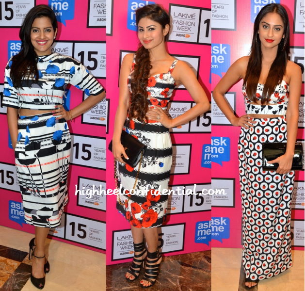 Vishakha Singh, Mouni Roy And Krystle D'Souza At Ken Ferns' Show At LFW 2015-1