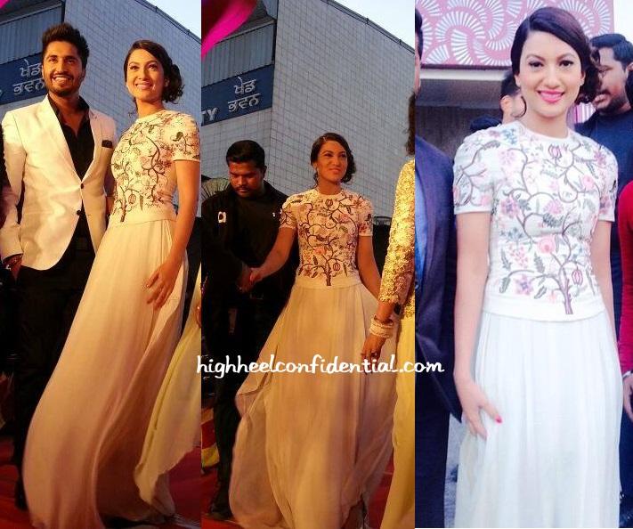 gauahar-khan-rahul-mishra-punjabi-film-awards-2015-1